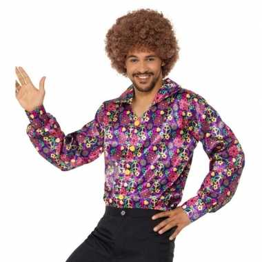 Carnavalskleding hippie peace blouse heren helmond