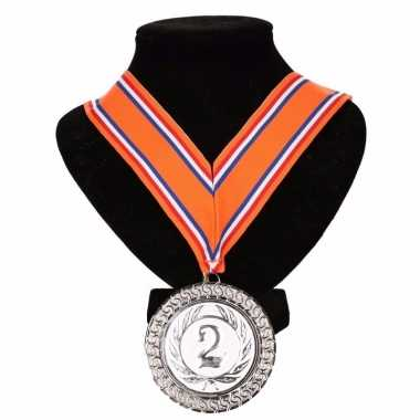 Carnavalskleding holland medaille nr halslint oranje rood wit blauw helmond 10091798