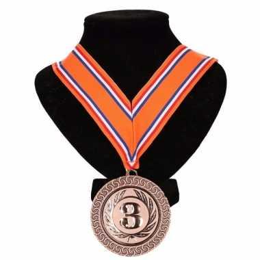 Carnavalskleding holland medaille nr halslint oranje rood wit blauw helmond 10091800