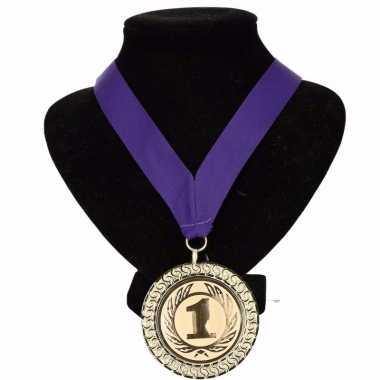 Carnavalskleding holland medaille nr halslint paars helmond