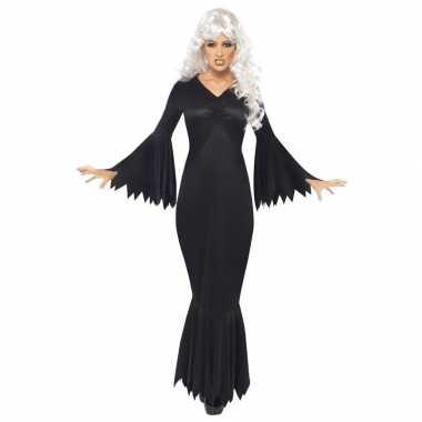 Carnavalskleding horror/halloween jurk zwart dames helmond