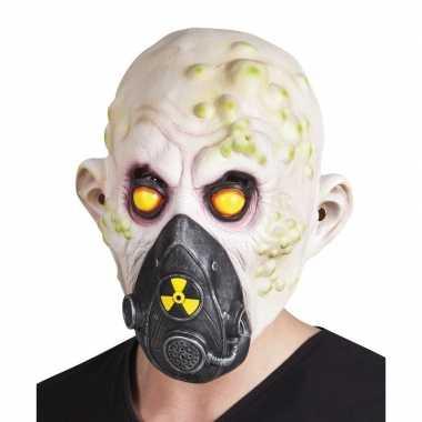 Carnavalskleding horror nucleair slachtoffer horror masker latex helm