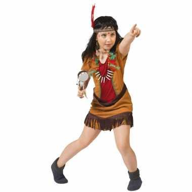 Carnavalskleding indianen jurkje meisjes helmond