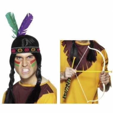 Carnavalskleding indianen verkleedsetje volwassenen helmond