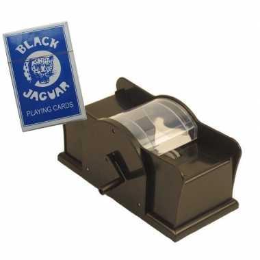 Carnavalskleding kaartenschudmachine handmatig een spel kaarten helmo