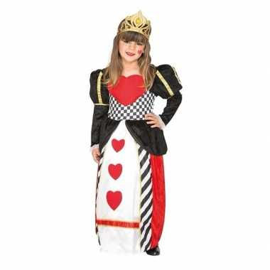 Carnavalskleding kaartspel verkleedjurk harten meisjes helmond