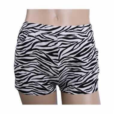 Carnavalskleding katoenen zebra hotpants hoge taille helmond