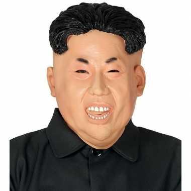 Carnavalskleding kim jong dictator noord korea maskers latex helmond