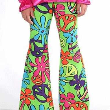 Carnavalskleding kinder broeken hippie peace helmond