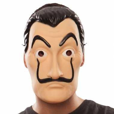 Carnavalskleding la casa papel overvaller masker salvador dali helmon