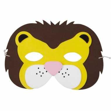 Carnavalskleding leeuw foam dierenmasker kinderen helmond
