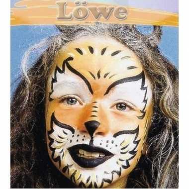 Carnavalskleding leeuw make up schminkset helmond