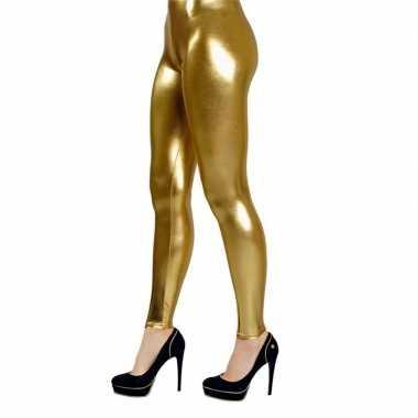 Carnavalskleding legging goud helmond