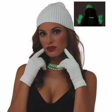 Carnavalskleding lichtgevende handschoenen dames helmond