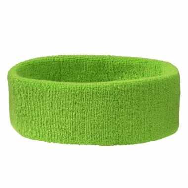 Carnavalskleding lime groen hoofdbandje helmond