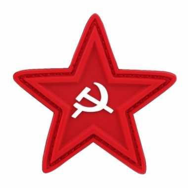 Carnavalskleding logo rode ster sikkel hamer helmond