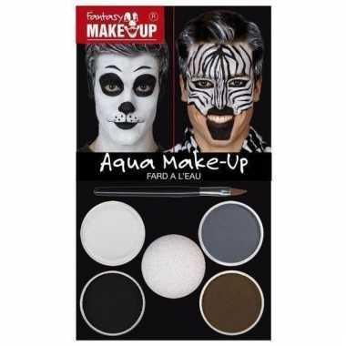 Carnavalskleding make up set panda helmond