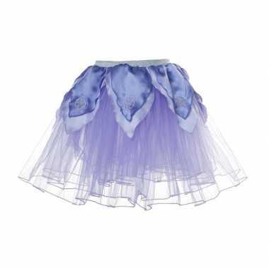 Carnavalskleding  Meisjes ballet rokje lila paars helmond