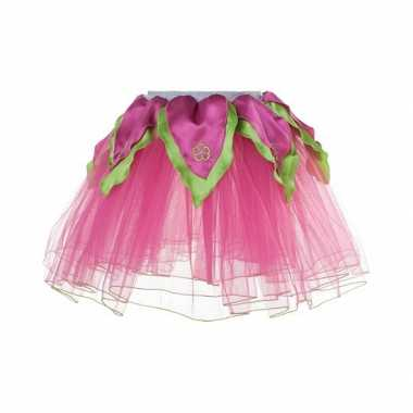 Carnavalskleding  Meisjes ballet rokje roze/groen helmond