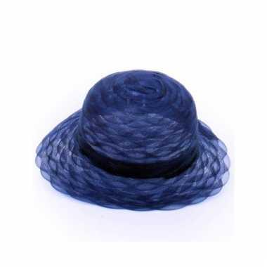 Carnavalskleding navy blauwe hoedjes helmond