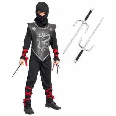 Carnavalskleding ninja carnavalskleding dolkenset maat l kids helmon