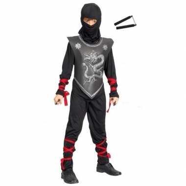 Carnavalskleding ninja carnavalskleding vechtstokkenset maat m kids