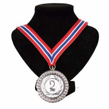 Carnavalskleding noorwegen medaille nr halslint rood wit blauw helmond 10091790