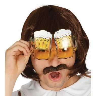 Carnavalskleding oktoberfest bier pullen verkleed bril volwassenen he