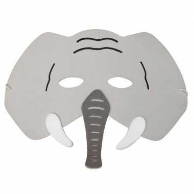 Carnavalskleding olifant foam dierenmasker kinderen helmond