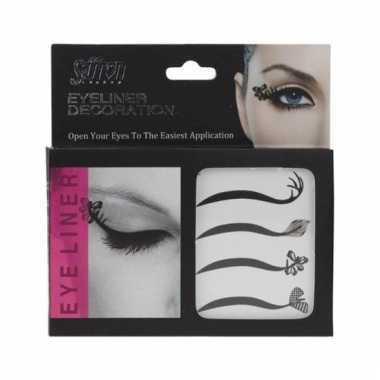 Carnavalskleding oog stickers eyeliner stuks helmond
