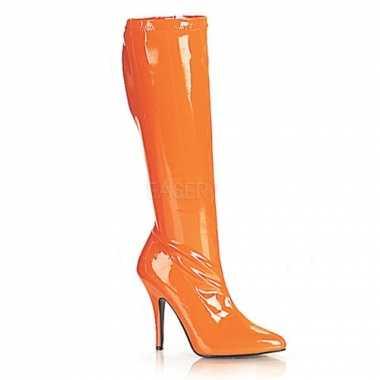 Carnavalskleding oranje gogo laarzen hak helmond