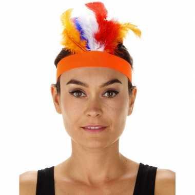 Carnavalskleding oranje indianentooien hoofdbanden dames helmond
