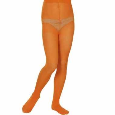 Carnavalskleding  Oranje panty meisjes denier helmond