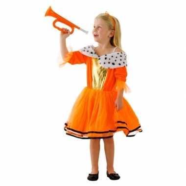 Carnavalskleding oranje prinsessen jurk meisjes helmond
