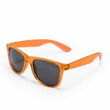 Carnavalskleding oranje verkleed accessoire zonnebril volwassenen hel