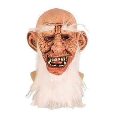 Carnavalskleding oude mannen masker latex helmond