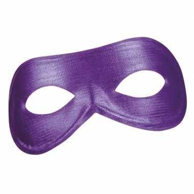 Carnavalskleding paars metallic oog masker dames helmond
