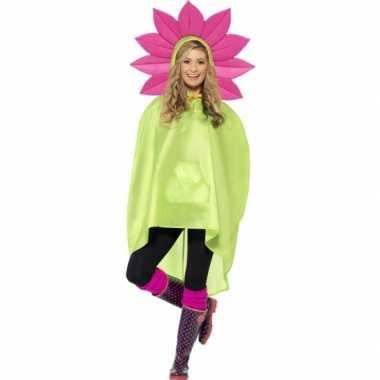 Carnavalskleding party poncho bloem helmond