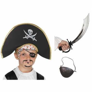 Carnavalskleding piraat verkleedsetje kids helmond