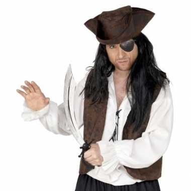 Carnavalskleding piraat verkleedsetje ooglapje zwaard helmond