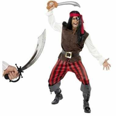 Carnavalskleding piraat zwaard maat l mannen helmond