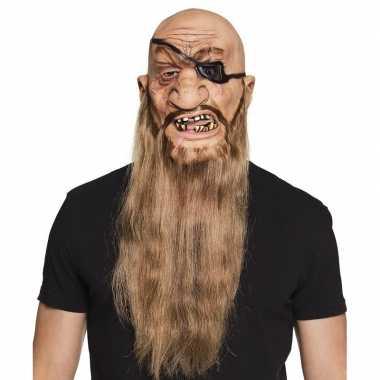 Carnavalskleding piraten masker latex helmond