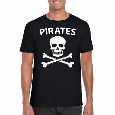 Carnavalskleding piraten shirt zwart heren helmond