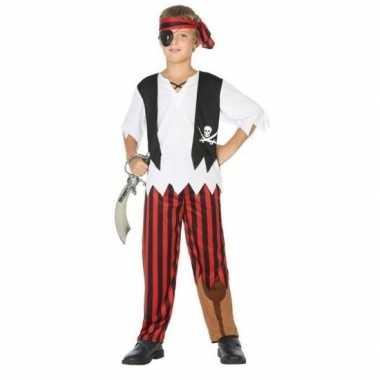 Carnavalskleding piraten verkleed set jongens helmond