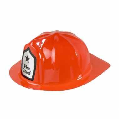Carnavalskleding plastic brandweer helm rood helmond
