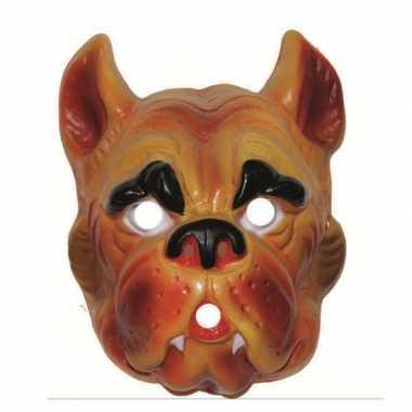 Carnavalskleding plastic honden masker volwassenen helmond