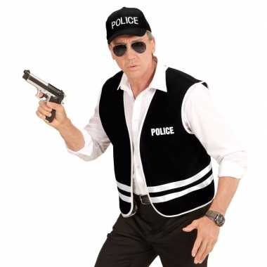 Carnavalskleding politie accessoires set hesje pet helmond