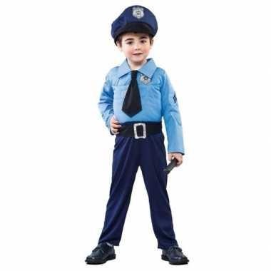 Carnavalskleding politie agent jongens helmond