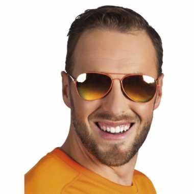 4c216b0ea3f780 Carnavalskleding Politie brillen oranje spiegelglas helmond ...