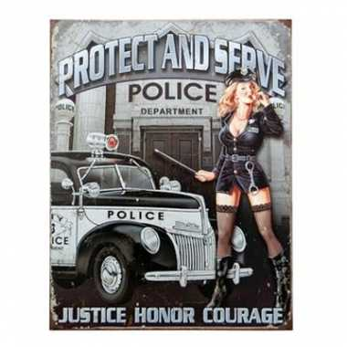 Carnavalskleding politie decoratie muurplaat helmond